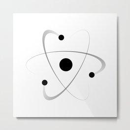 Atomic Mass Structure Metal Print