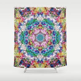 Abstract Balance of Colors Shower Curtain