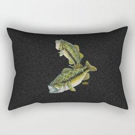 Two Largemouth Bass - Above And Below Rectangular Pillow