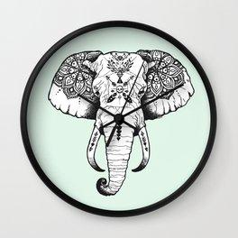 Elephant Tattooed Wall Clock