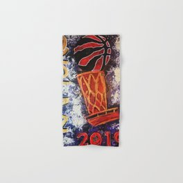 raptors 2,champion,basketball,gold,poster,wall art,2019,winners,NBA,finals,toronto,canada,painting Hand & Bath Towel