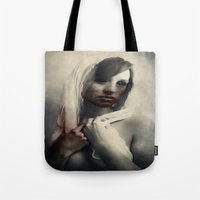 blood Tote Bags featuring Blood by Digital Asylum (Josh Winton)