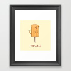 Pupsicle Framed Art Print