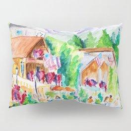 Vail Village Colorado Watercolor Pillow Sham