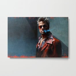 Tyler Durden Smoking A Cigarette Metal Print
