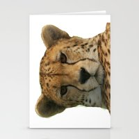 cheetah Stationery Cards featuring Cheetah by Sean Foreman