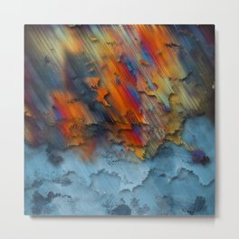 Diagonal Rainbow Redux Metal Print