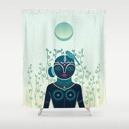 Indian woman Shower Curtain