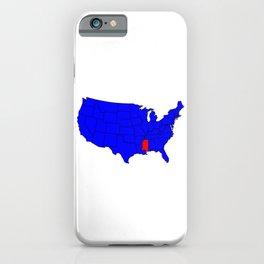 State of Mississippi Location iPhone Case