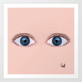 Olhos Azuis Art Print