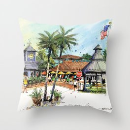 Siesta Key Village Throw Pillow