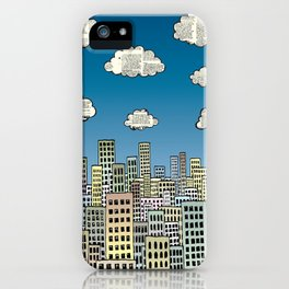 The city of paper clouds iPhone Case