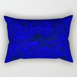 Midnight Blue Abstract 2 Rectangular Pillow