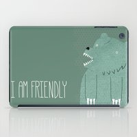 custom iPad Cases featuring Friendly Bear by Sarajea
