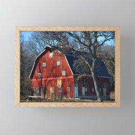 The Bright Red Barn Framed Mini Art Print