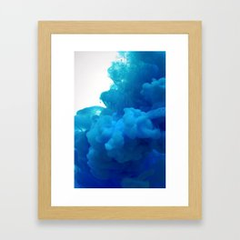 blue cloud Framed Art Print