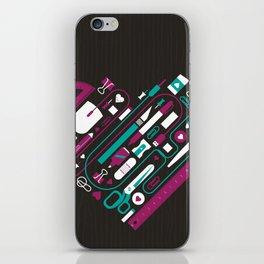 I Heart Work iPhone Skin