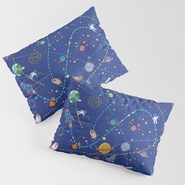 Space Rocket Pattern Pillow Sham