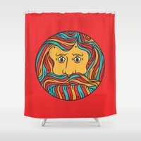 circle Shower Curtains featuring Circle by Brad Hansen