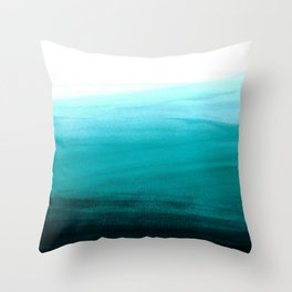 Ombre background in turquoise Throw Pillow