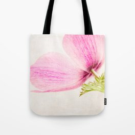 Linen In Pink Tote Bag