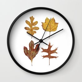 Fall Leaves Painting Wall Clock