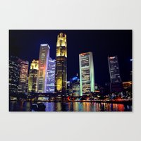 singapore Canvas Prints featuring Singapore Skyline by Mark Bagshaw Photography