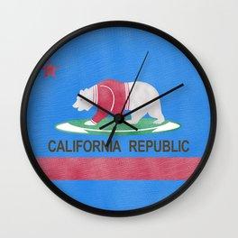 Polar Bear In California Wall Clock