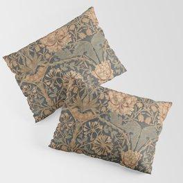 Honeysuckle by William Morris 1876,  Printed Linen, Vintage Pattern, CC0 Spring Summer Pillow Sham