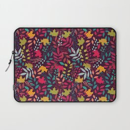 Autumn seamless pattern with floral decorative elements, colorful design Laptop Sleeve