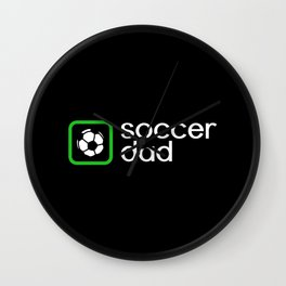Soccer Dad (Green) Wall Clock