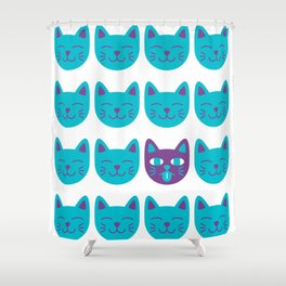 Cat Tongue Shower Curtain