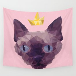 King Cat. Wall Tapestry