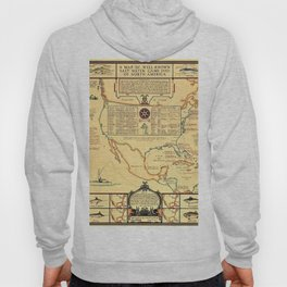 Illustrated Map of Well Known Salt Water Game Fish of North America Hoody