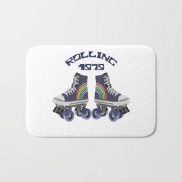 Retro Rainbow Roller Skating Bath Mat