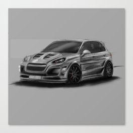 Porsch Cayenne Gray Artrace body-kit Canvas Print