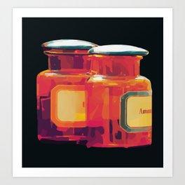 Colorful Medicine Bottles Art Print