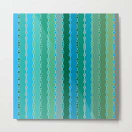 Multi-faceted decorative lines 5 Metal Print