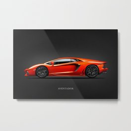 The Aventador Supercar Metal Print