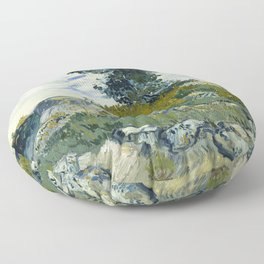 Vincent van Gogh - The Rocks (1888) Floor Pillow