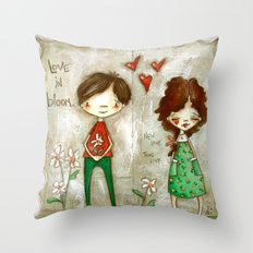 Love in Bloom - New Love, True Love Throw Pillow