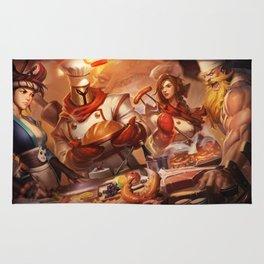 Baker Pantheon Sashimi Akali Barbecue Leona Butcher Olaf Splash Art League of Legends Artwork Rug