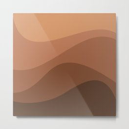 Abstract Color Waves - Orange Palette Metal Print