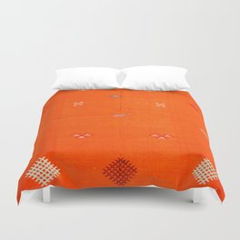 -A10- Traditional Anthropologie Moroccan orange Artwork. Duvet Cover