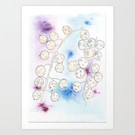 Honesty - Ink and brusho Art Print