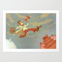 Flying Doctor Art Print