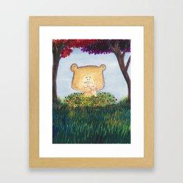 Bear snacking Framed Art Print