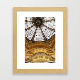 Galeries Lafayette in Color Framed Art Print