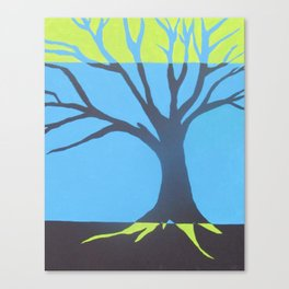 three color tree Canvas Print