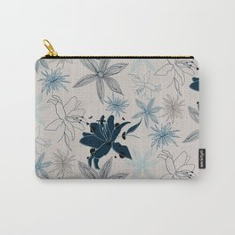 Wood cut flowers Carry-All Pouch
